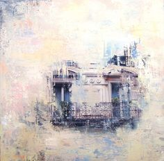 Paris Rêvé IX / Nurieh Mozaffari / mixed media on canvas / Art Size: 12 x 12 / C5665NM