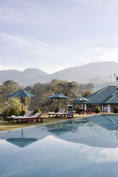 The Mountain Escape: Ceylon Tea Trails, Sri Lanka. A collection of four plantation bungalows - each with six luxurious guest rooms - set 4,000 feet above sea level. Each bungalow comes with its own chef, butler, and manager.