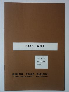 Pop Art catalogue cover