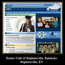My Web Design Clients: Rotary Club of Hopkinsville, Kentucky. Hopkinsville, Kentucky. http://www.hopkinsvillerotary.com/