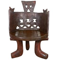 Ethiopian Chief Chair | From a unique collection of antique and modern chairs at https://www.1stdibs.com/furniture/seating/chairs/