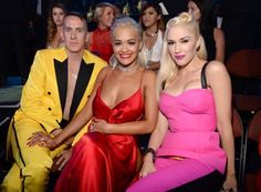Gwen Stefani, Jeremy Scott & Rita Ora at the VMA's