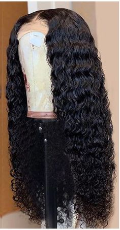 West Kiss Hair Lace Front Wigs Deep Wave Brazilian Human Hair Wigs Density Made By Hair Bundles And Frontal For Black Women Human Virgin Hair Wigs Curly Lace Front Wigs, Human Hair Lace Wigs, Front Lace, Straight Lace Front Wigs, Wig Styles, Curly Hair Styles, Natural Hair Styles, Baddie Hairstyles, Weave Hairstyles