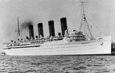 RMS Mauretania,built in 1906 was one of the first ocean liners to convert to the steam turbine and was soon followed by all subsequent liners.