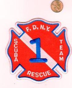 Company Fire Patch FDNY New York City Rescue 1 Scuba Team   eBay