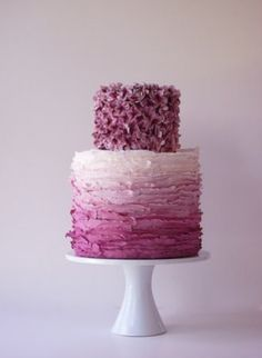 I adore this ombre styled cake