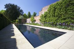 Outdoor Guncast swimming pool in Oxfordshire