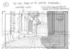 Enjoy a series of Drawing Tips by Thomas Romain on backgrounds, buildings, interiors & more. Thomas Romain is a French animator who is responsible for Manga Drawing, Drawing Tips, Drawing Sketches, Sketching, Sketch Background, Animation Background, Thomas Romain, Perspective Drawing Lessons, Perspective Sketch