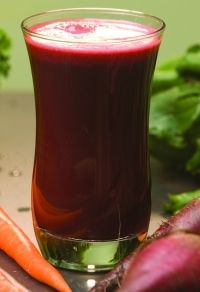 """""""Beets and lemons are powerful liver cleansers. The natural sodium in the celery will help flush out debris as well. Apples have malic acid which help to soften stones and open your bile ducts. For best results, drink 1 pint of juice per day."""""""