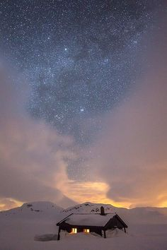 Starry nights in Gudvangen, Norway