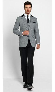JT Herringbone Sportscoat - Charcoal