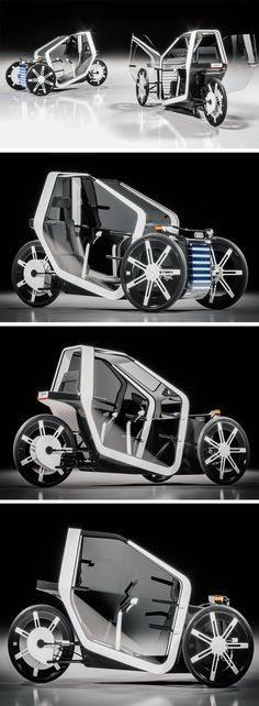 The power-assisted Audi Formula Zero trike is perfect for zipping between short distances. Channeling an uber-minimalist Audi aesthetic, the stripped-down design features a modular structure for easy assembly and maintenance. Its framework consists of aluminum, plastic and composite materials, making it incredibly lightweight yet durable.