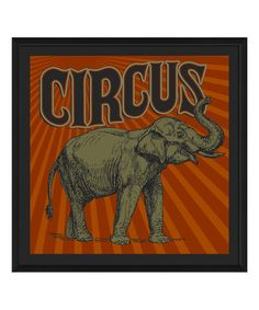 Look at this #zulilyfind! Circus Elephant Framed Print by The Artwork Factory #zulilyfinds