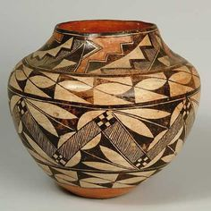 Navajo pottery http://casadelosarboles.com/index_files/acoma-pot.jpg