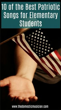 Teaching Patriotic songs is so important, but how do you know which ones to teach? These are 10 of my favorite Patriotic songs for elementary students. Patriotic Songs For Kids, Piano Lessons For Kids, Online Music Lessons, Singing Lessons, Singing Tips, Learn Singing, Teaching Music, Learning Piano, Music Activities