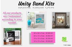 We specialize in the little things that make your wedding or event stand out! Unity Sand, Facebook Sign Up, Wedding Planning, How To Apply, Kit, Gift Ideas, Make It Yourself, Feelings, Unique