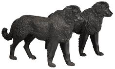 Important pair of Philadelphia Wood and Perot cast iron Newfoundland dog garden figures - Price Estimate: $50000 - $70000