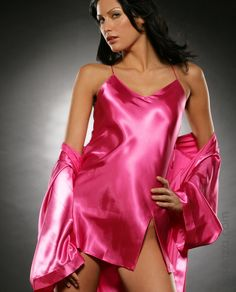 She wears satin and invites me Pyjama Satin, Satin Nightie, Silk Chemise, Satin Sleepwear, Satin Gown, Satin Slip, Satin Dresses, Silk Satin, Satin Underwear