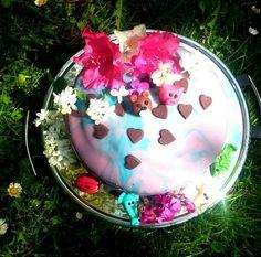 #birthday #cake with #mirrorglaze