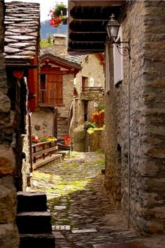 Ancient Street in Torgron, Toscana