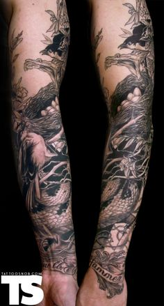 Love this one. I normally prefer color tattoos, but this looks so nice.