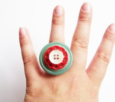 Vintage Button Ring £10.00