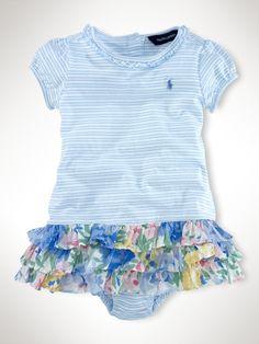 Stripe-To-Floral Dress - Infant Girls Dresses & Rompers - RalphLauren.com
