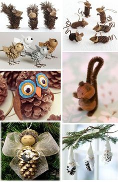 Vysněná zahrada: Domácí vánoční ozdoby ze zahrady Pinecone Crafts Kids, Acorn Crafts, Pine Cone Crafts, Pumpkin Crafts, Easy Christmas Crafts, Thanksgiving Crafts, Christmas Projects, Fall Crafts, Christmas Decorations