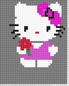 Hello Kitty hama perler beads pattern