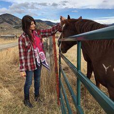 @duka_jules takes our Udugu scarf adventuring in the wilds of Colorado  #vintageflannel #denim #horseback #tbt #wanderlust #sustainableliving #themountainsarecalling #dukadays