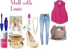 """Mall with Louis"" by foreveryoungonedirection ❤ liked on Polyvore"