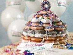 why didn't i think of this before? a krispy kreme cake!!  MY NEXT BIRTHDAY CAKE!!!!!!!!!!!!!!!!!