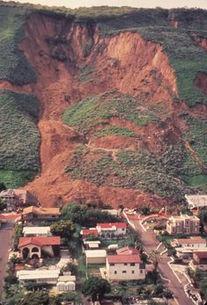 The LaConchita Landslide of March 1995 in Ventura County, along the California coast.