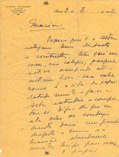 Carta De Samuel Baccart Para Sua Filha - 1932.  Carta manuscrita. 1932. Do advogado santista Samuel Baccart para sua filha Maria Arruda Baccart, em 03 de março de 1932. Em papel timbrado do escritório do próprio Samuel Baccart, que lutou em campo (ao lado dos rebeldes), na Revolução Constitucionalista de 1932 e é o autor do livro Capacetes de Aço, que narra situações vividas por ele durante o movimento.  Medidas (cm):28,5 X 21,5 À venda: www.papelia.com.br