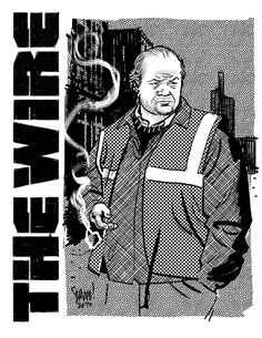 Frank Sobotka - The Wire - Greg Smallwood