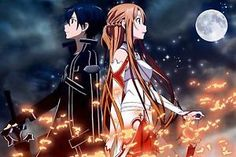 "HOT Anime SAO Sword Art Online Jasna Tung Wall Poster Scroll Home Decor 24""x36"""