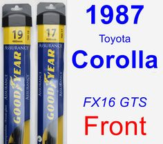 Front Wiper Blade Pack for 1987 Toyota Corolla - Assurance