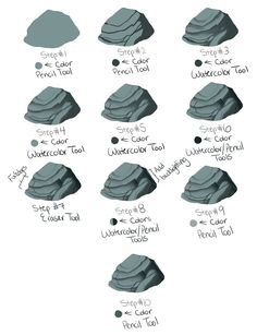 Quick scribbly rock tutorial for SAI by kohu-scribbles on DeviantArt