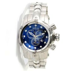 Invicta 10570 Reserve Mid-Size Venom Swiss Made Quartz Chronograph Stainless Steel Blue Dial Watch Invicta. $358.06. Tritnite accents decorate the gunmetal hour, minute and subdial hands.. Swiss ETA G15.211 Quartz Chronograph movement.. 45mm round case. silver-tone unidirectional ratcheting bezel with a black diver's scale. Flame Fusion Crystal. Save 82% Off!