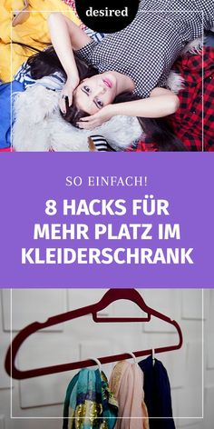 Too small wardrobe: 8 hacks for more order! Mess in the wardrobe? With these tricks you create new s Diy Wardrobe, Small Wardrobe, Lifehacks, New Swedish Design, Wardrobe Organisation, Make Up Tricks, Amazing Life Hacks, Floating Shelves Diy, News Space