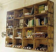 Artesanato Decor e Culinária: Arte e reciclagem Caixotes de madeira reciclados