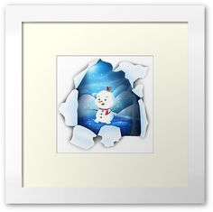'Tear It! ~ Snowbaby Line' Framed Print by We ~ Ivy Art Prints For Home, Framed Art Prints, Presents For Friends, My Themes, Website Themes, Good Cause, Centerpiece Decorations, Custom Boxes, Art Boards