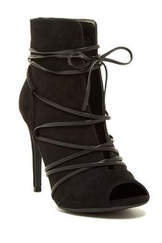670b05e97ca6 Berlin Wraparound Lace Bootie Black Lace Up Boots