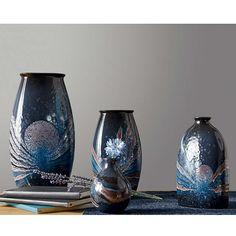 BuyPoole Pottery Celestial Bud Vase, Grey/ Blue Online at johnlewis.com