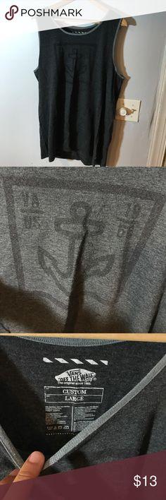 Men's Vans tank top Off the wall, grey Vans Shirts Tank Tops