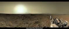 Panoramic image of the view from Curiosity on sol 409. Click image for link to larger version. Credit: NASA / JPL-Caltech / Damia Bouic       Postcard from Mars - the view from Curiosity on sol 409