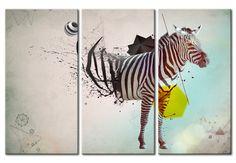 "Cuadro decorativo ""Cebra - abstracto"""
