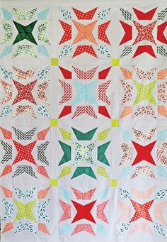Sewing Block Quilts Wavelength PDF Pattern - Freshly Pieced Quilt Patterns - 2 - This is my twist on a traditional Grandmother's Two-Patch block. Star Quilts, Scrappy Quilts, Baby Quilts, Quilt Blocks, Quilting Projects, Quilting Designs, Sewing Designs, Quilting Ideas, Quilt Modernen