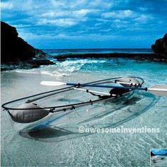 A see through canoe! Really cool!