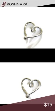 ❗️sale❗️925 Sterling Silver Heart Cartilage Hoop For sensitive ears, this heart hoop is made of Argentium Sterling Silver. (100% hypoallergenic/nickel free and tarnish resistant) Available in 3 different gauges. nejd Jewelry Earrings